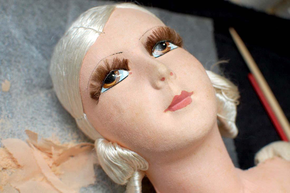 голова куклы из текстиля