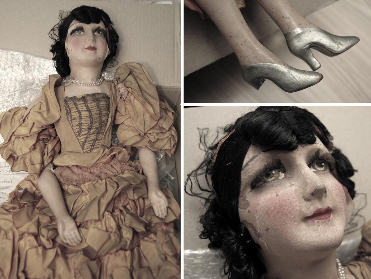 фотография антикварной французской куклы