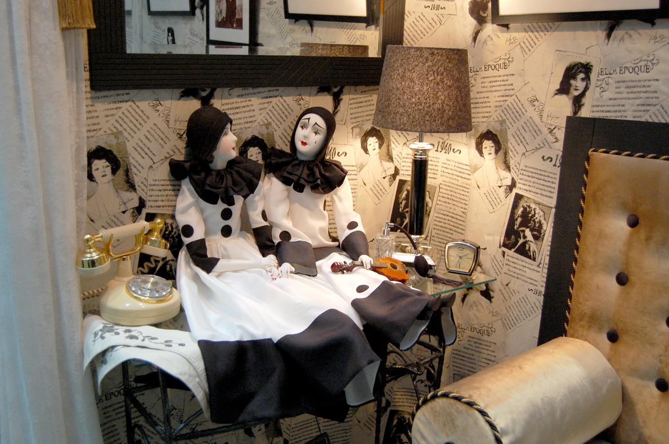 фотография будуарных кукол пьеро и пьеретта