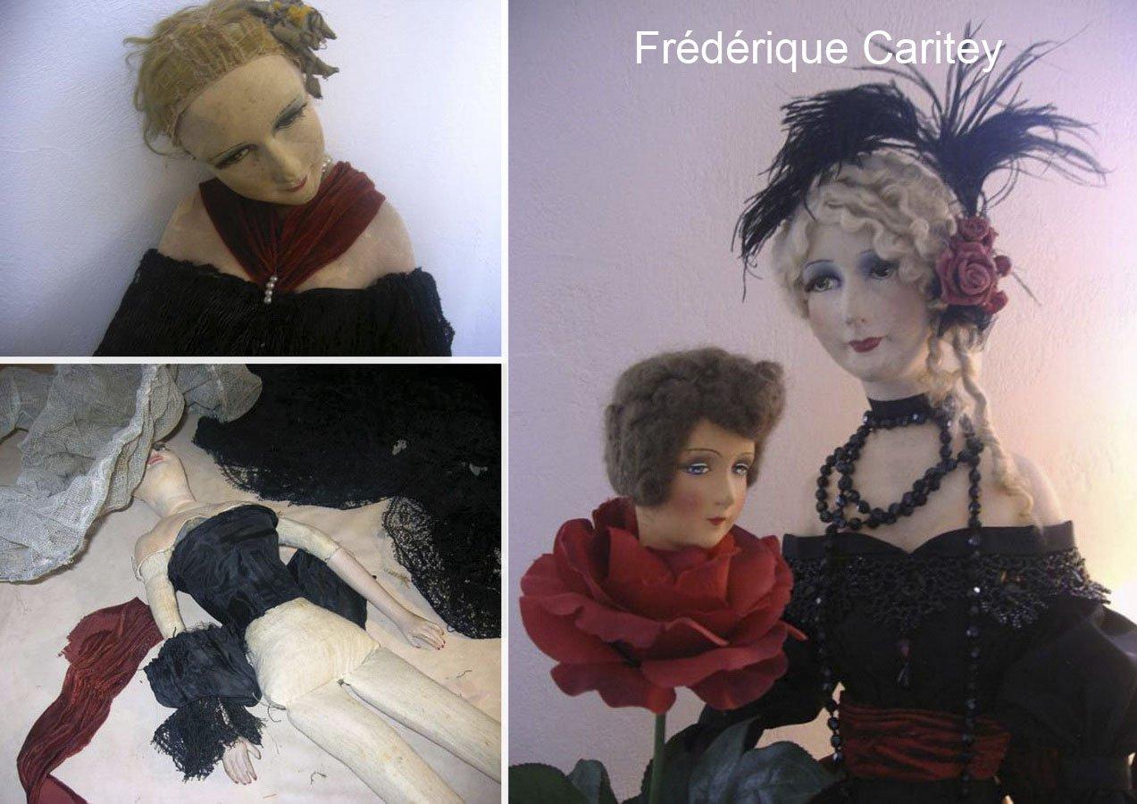 старая антикварная будуарная кукла