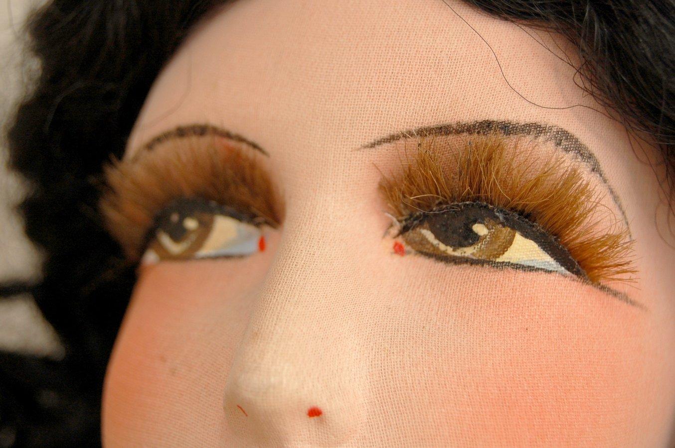 роспись карих глаз будуарной куклы