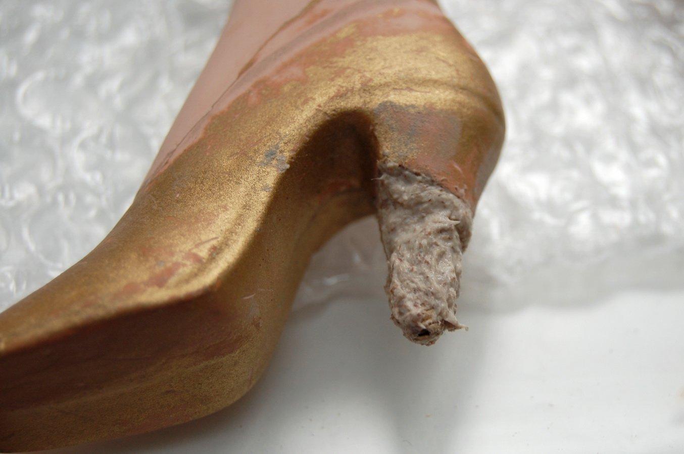 наращивание каблука на туфле будуарной куклы