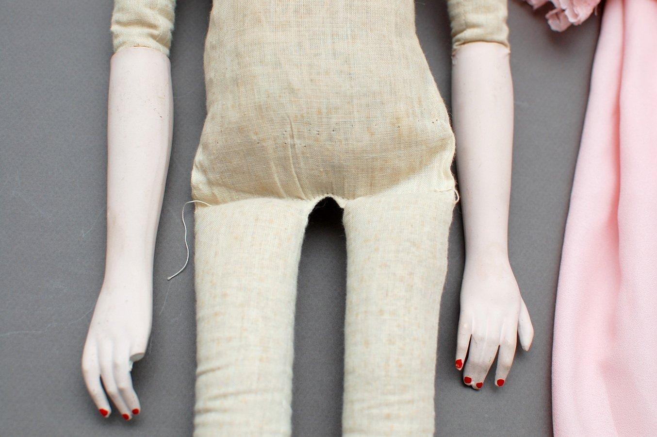 цельная выкройка тела будуарной куклы