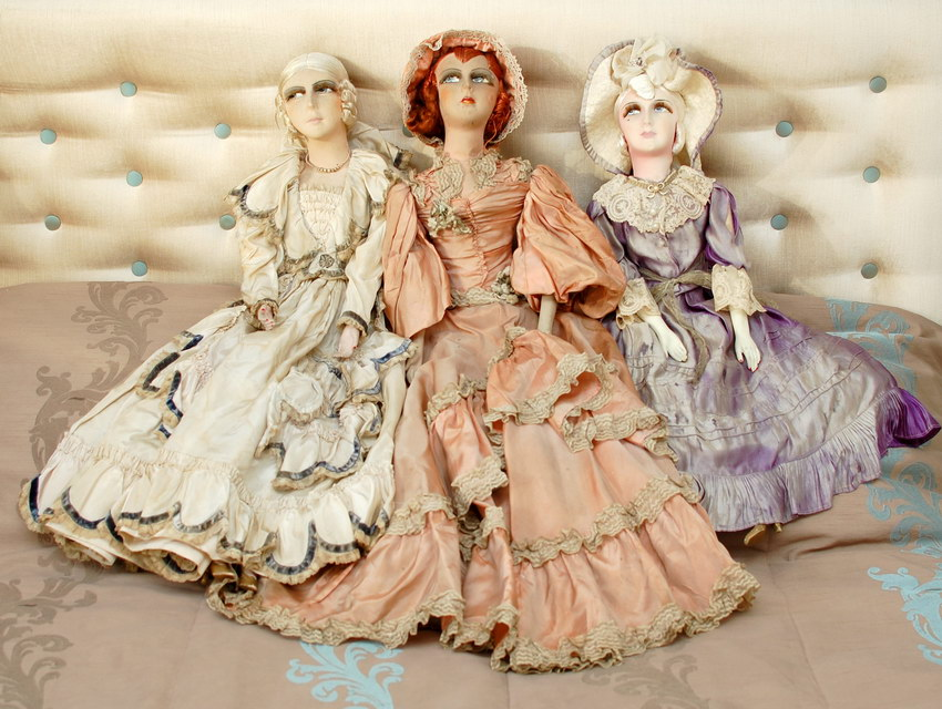 три будуарные куклы фото