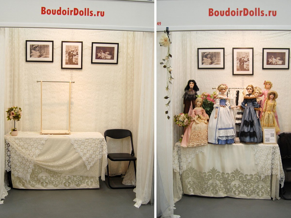 стенд на выставке кукол