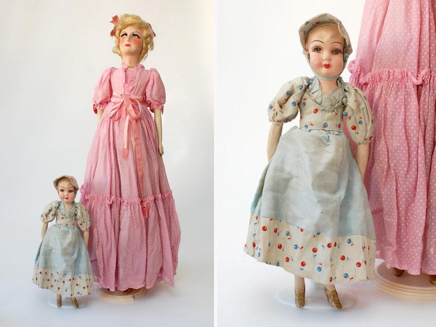 будуарные куклы большая и маленькая