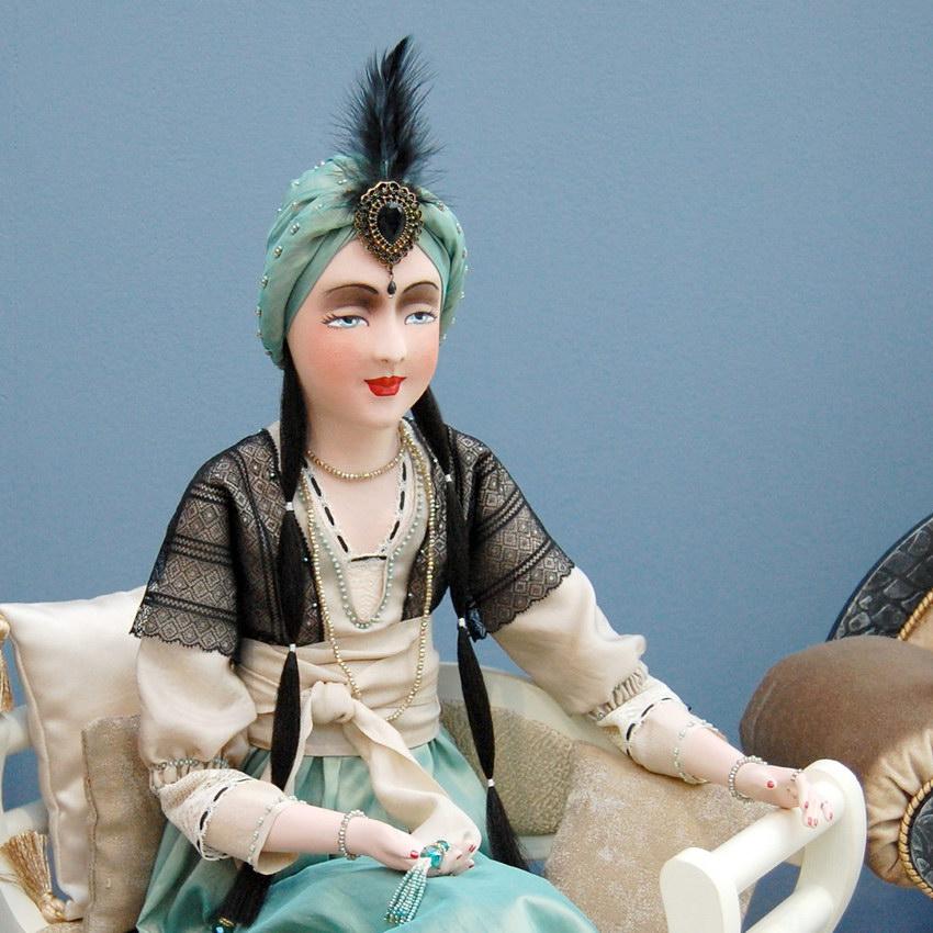 авторская будуарная кукла Жасмина