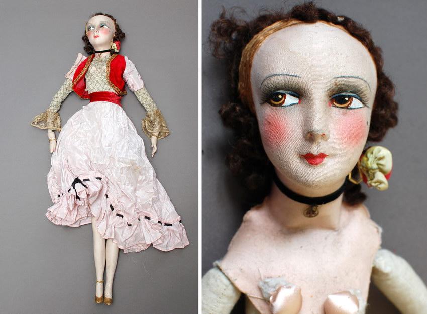 антикварная будуарная кукла Gerbs
