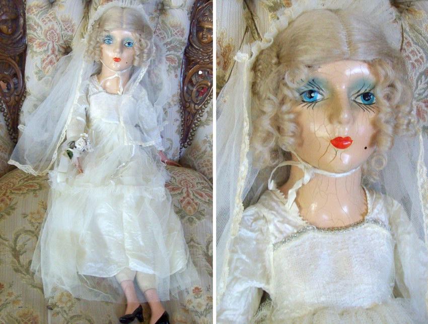 будуарная кукла из композита