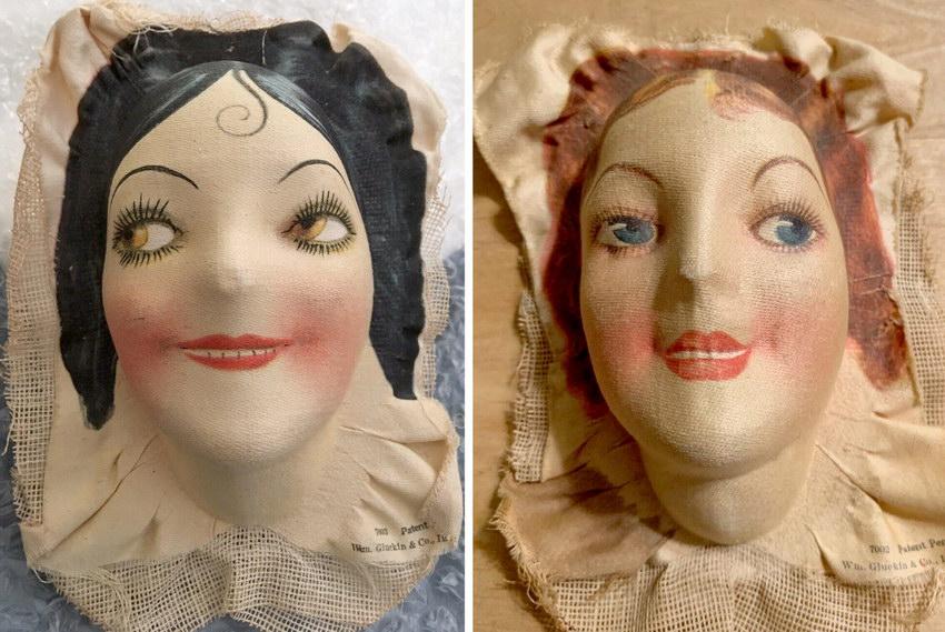 текстильные маски для кукол