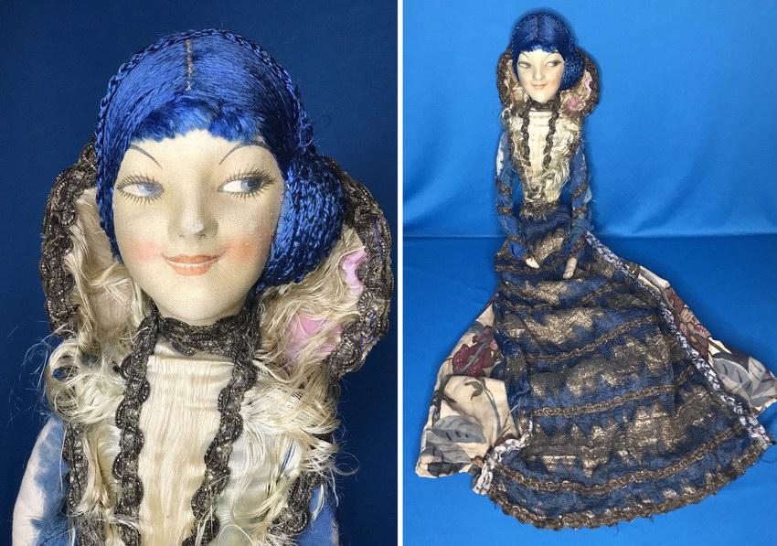 антикварная будуарная кукла Wm Gluckin