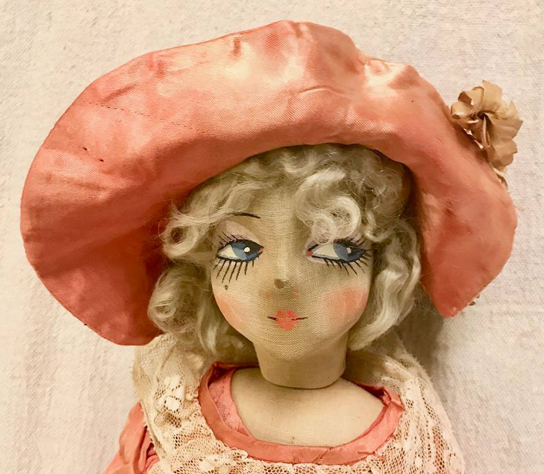 антикварная будуарная кукла