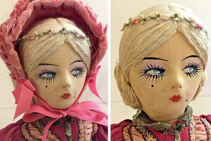 редкая будуарная кукла