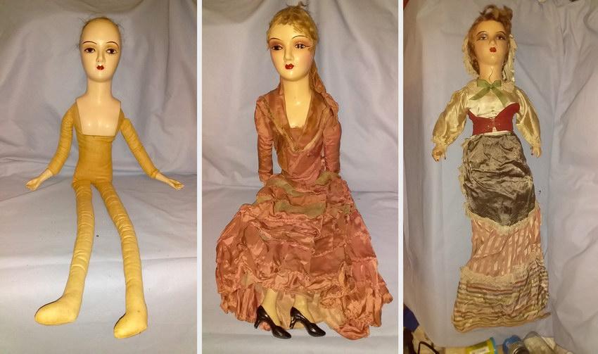 три будуарные куклы из композита