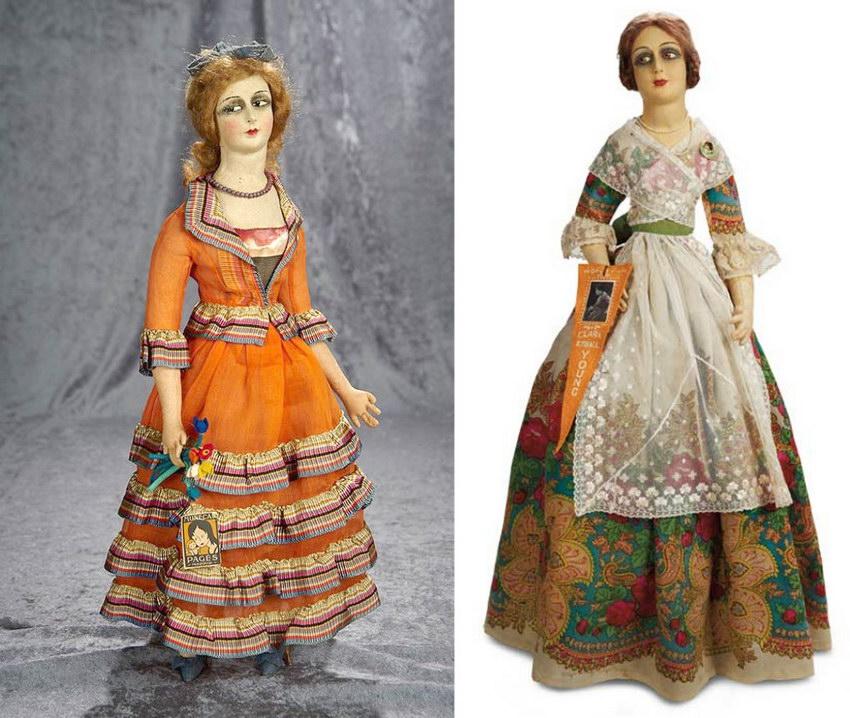 Антикварные войлочные куклы