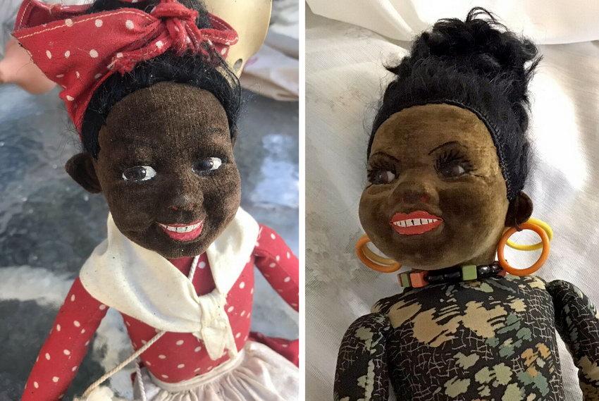 темнокожие текстильные куклы Norah Wellings