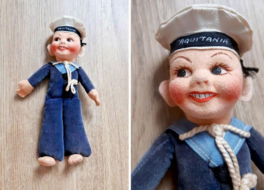 текстильная кукла морячек Norah Wellings