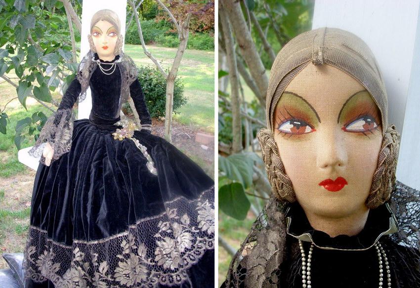 текстильная будуарная кукла Ring Lady
