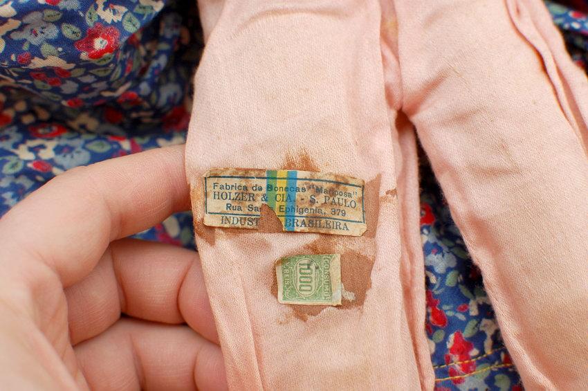 бирка будуарной куклы из войлока Mariposa
