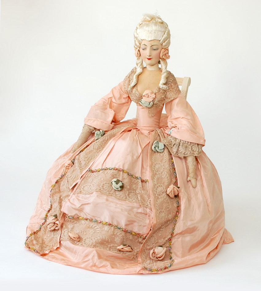 антикварная будуарная кукла Rosalinde