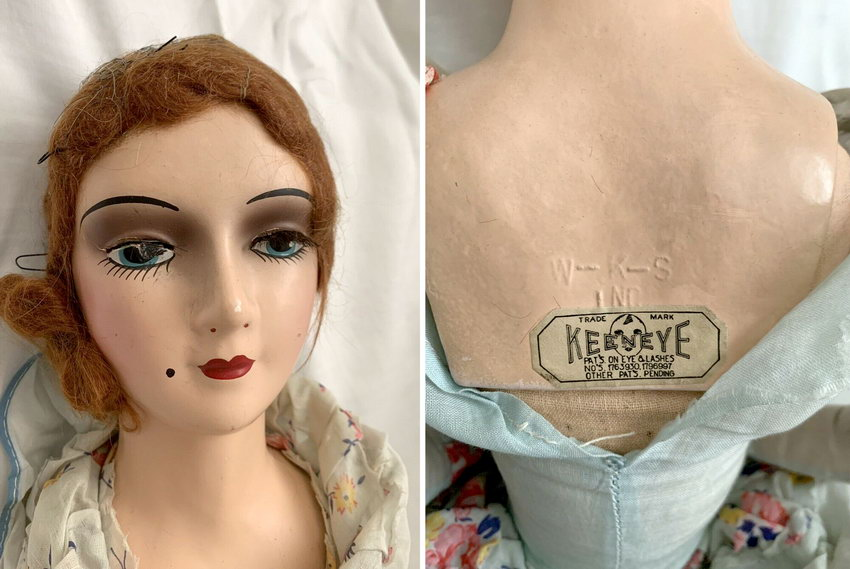 будуарная кукла из композита Keeneye
