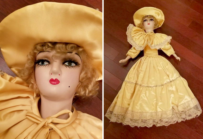 антикварная будуарная кукла Keeneye