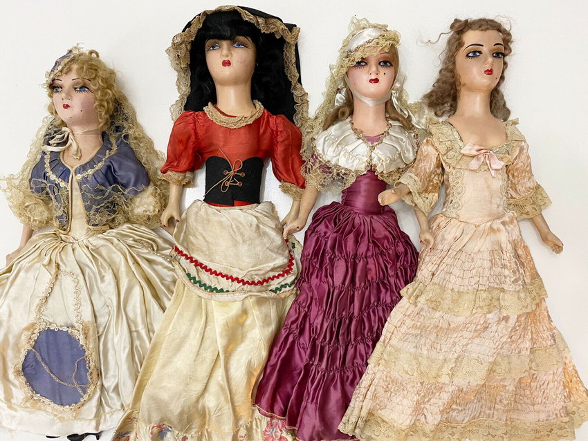 композитные будуарные куклы 30-х годов