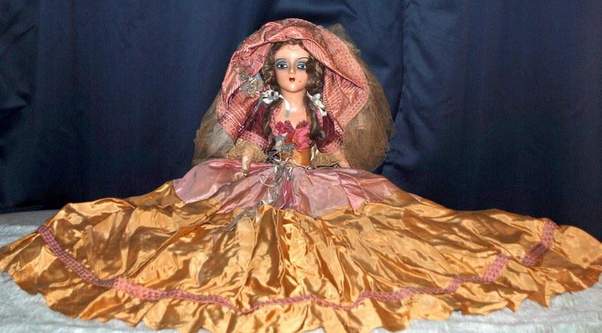 антикварная будуарная кукла Sterling