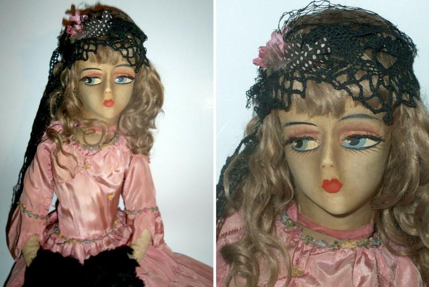 текстильная будуарная кукла Sterling
