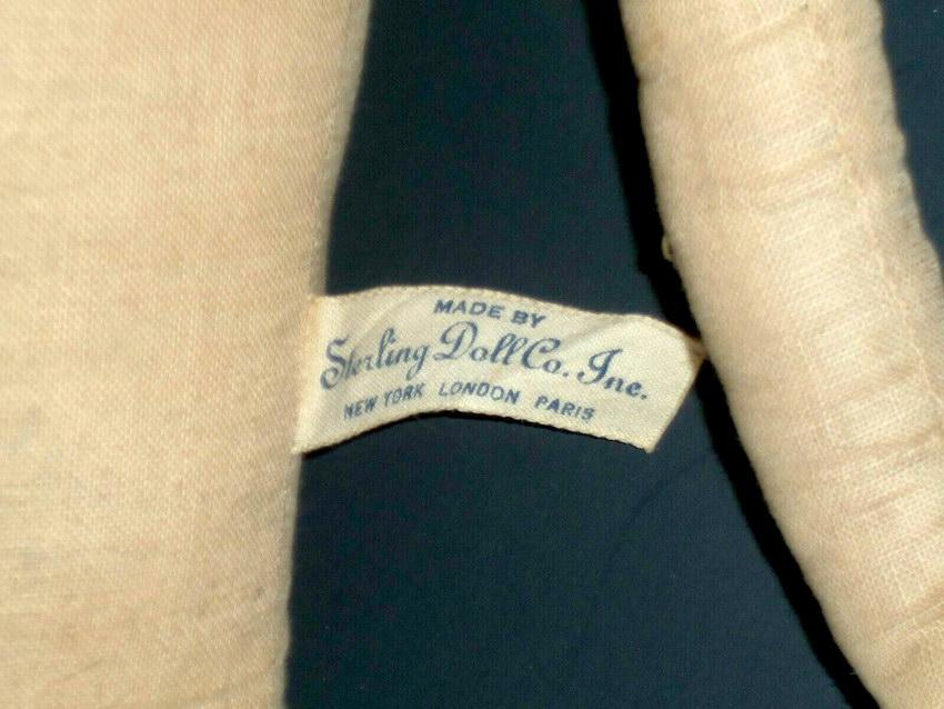 маркировка антикварная будуарной куклы Sterling