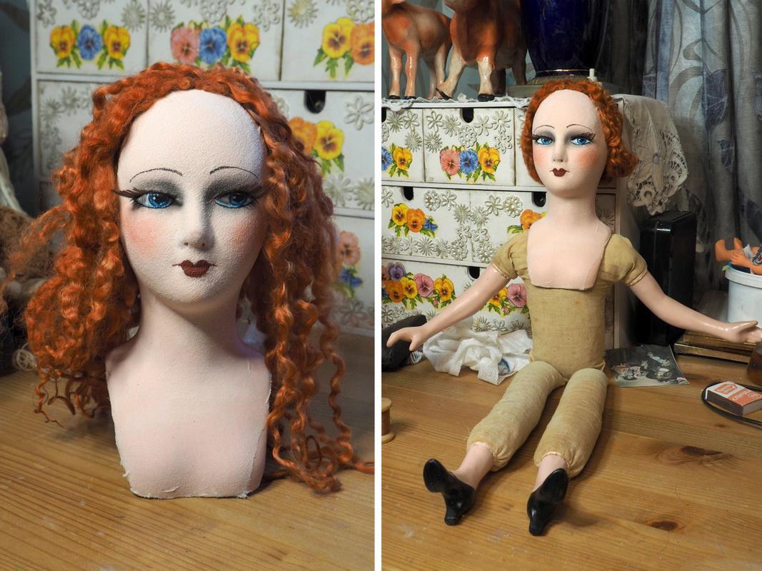 голова и тело будуарной куклы