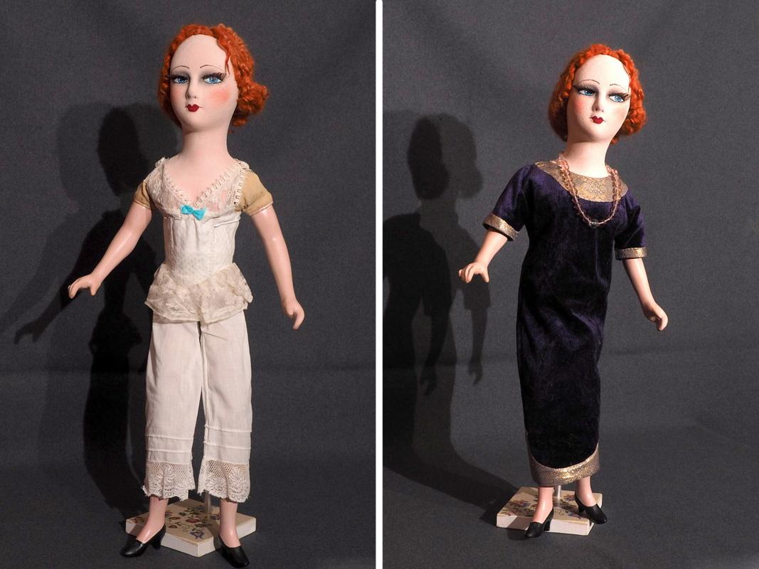 будуарная кукла в нижнем белье