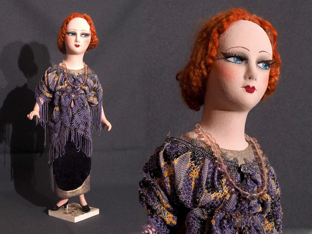 американская будуарная кукла из композита