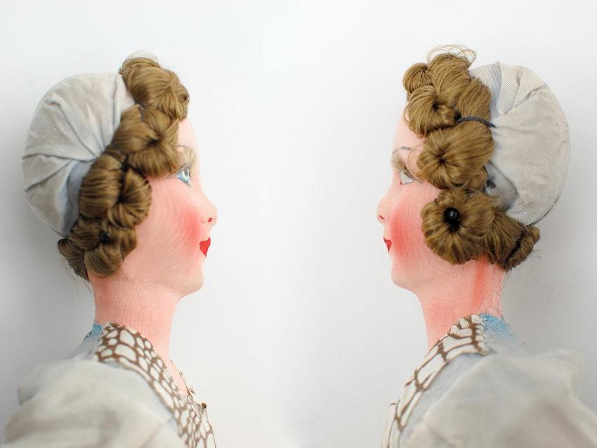 голова будуарной куклы после ремонта