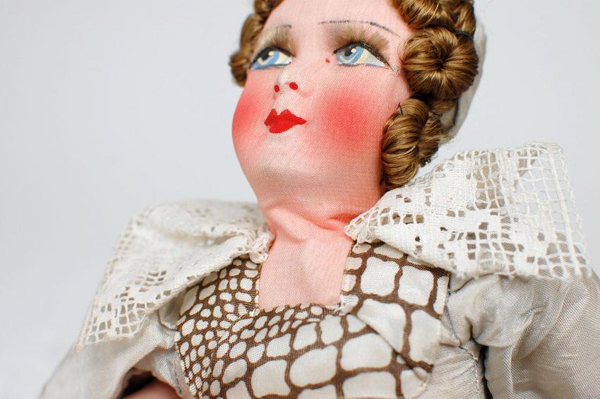 голова текстильной будуарной куклы