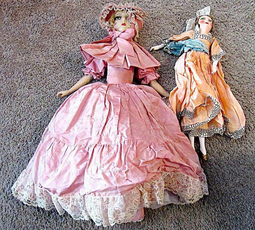 антикварные будуарные куклы