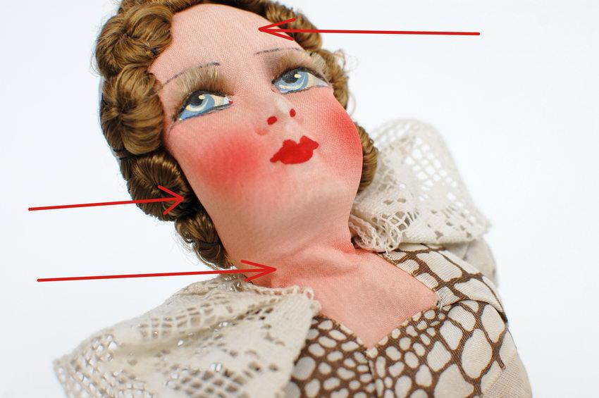 фото головы будуарной куклы