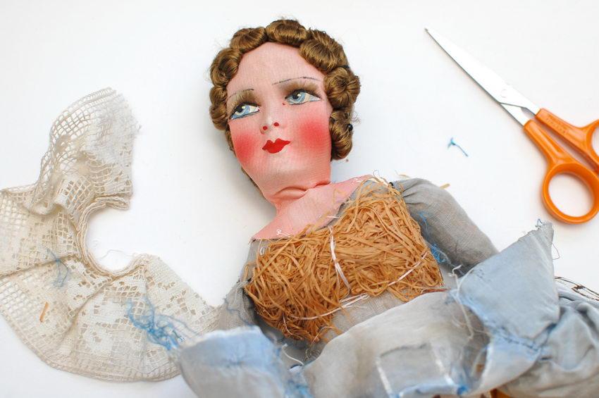 будуарная кукла в разборе