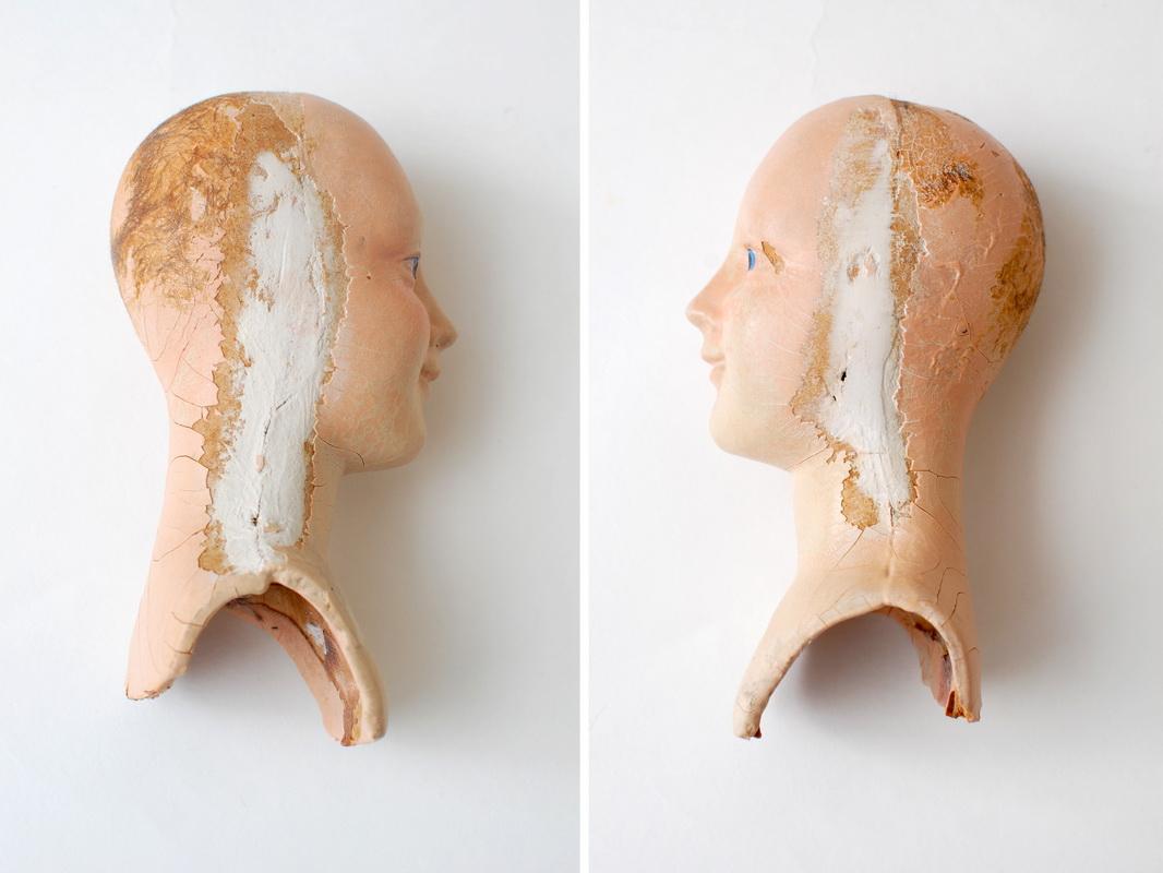 Голова антикварной будуарной куклы Anita