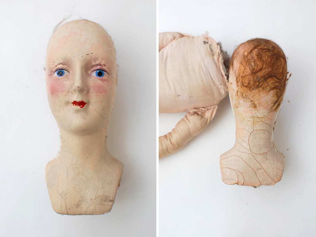 антикварная композитная будуарная кукла Anita