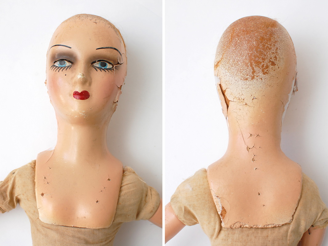 голова будуарной куклы из композита