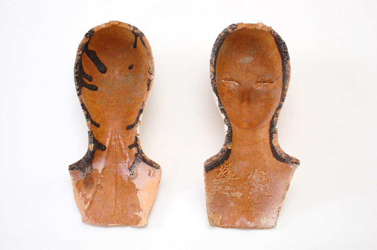 половинки головы будуарной куклы из прессопилок